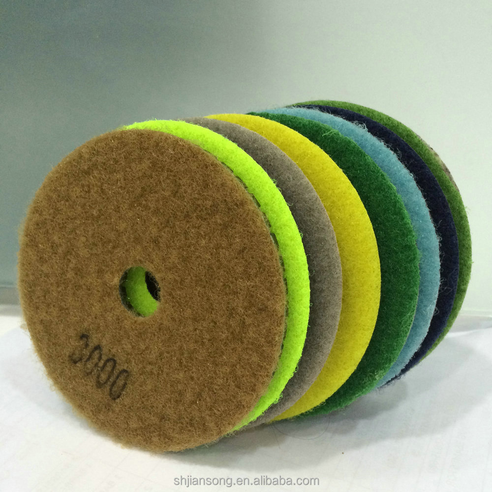4 inch resin polishing pads for concrete marble granite epoxy floor