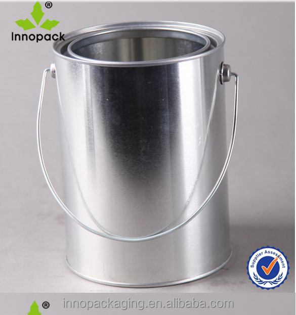 whole 1 gallon tin buckets with lid and handle for paint or chemical ng