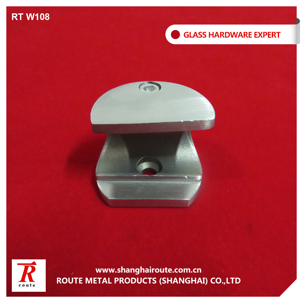 stainless steel sliding door glass clamp fixing for track