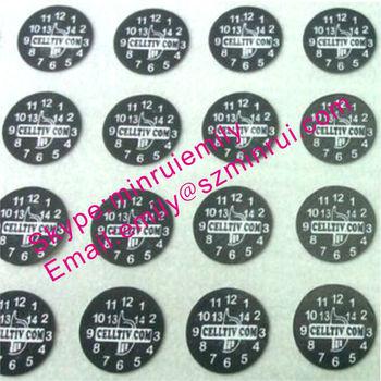 Custom Small Round Warranty Sticker Warranty Void Labels