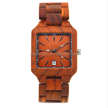 Hot Sell Red Sandal Wood Watches vintage watches ladies Quartz Watch Women Casual Wood Wristwatches