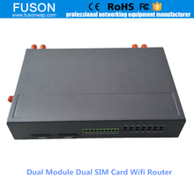 3g 4g industrial wireless router load balancing with dual sim card dual modules