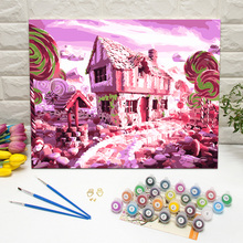 Pittura A Olio di DIY Kit per adulti Principianti Candy House