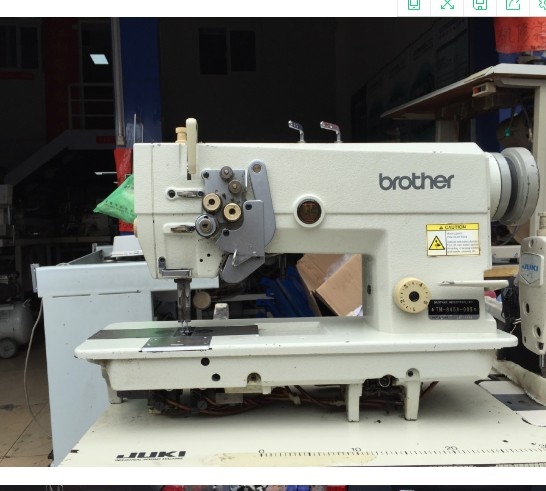 Used Japan Brother Industrial 40 Double Needles Lockstitch Sewing Awesome Brother Japan Sewing Machine