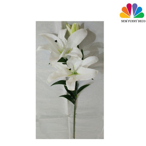 Top Quality 3heads Artificial Easter Lily Flower