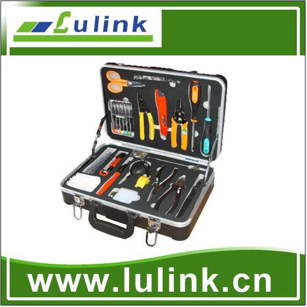 High quality Fibre Optique Outillage/ftth fiber optic cable tool box kit, splicing tool kit