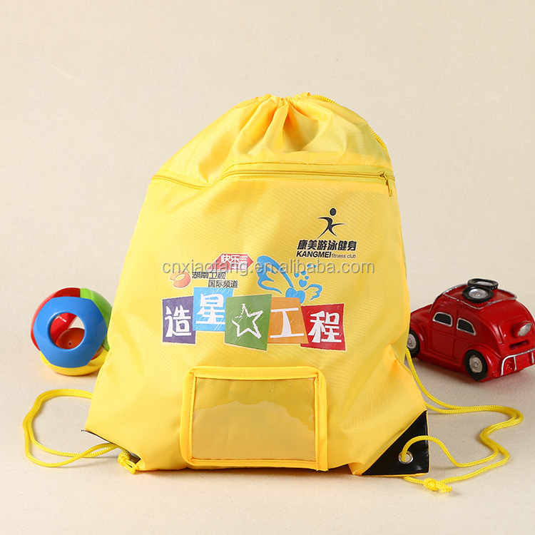 Hot sale heat transfer printed kids backpack bag, 210D polyester backpack