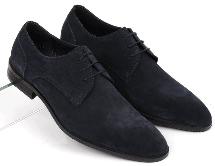 New 2015 summer cool fashion mens shoes casual genuine leather black suede design basic flats for office busines size:6-10 OX199