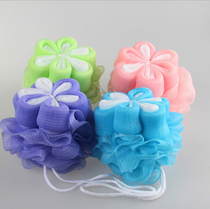 Newest Design Whitening Skin Mesh Pouf/Nylon Bath Sponge