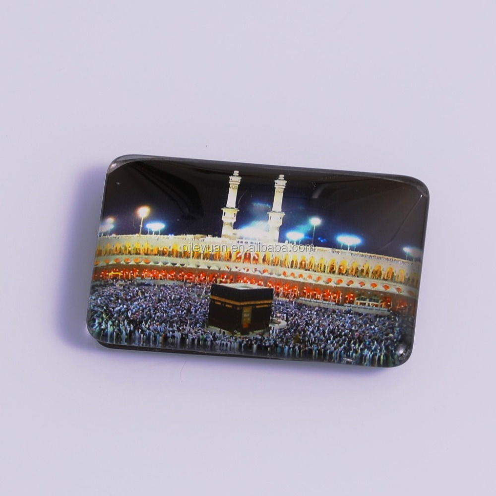 Wonderful customized glass crystal egypt fridge magnet for the Middle East