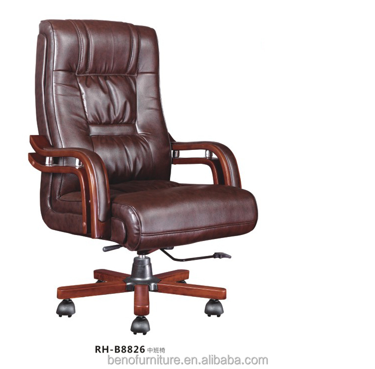 True innovations executive brown leather office chair