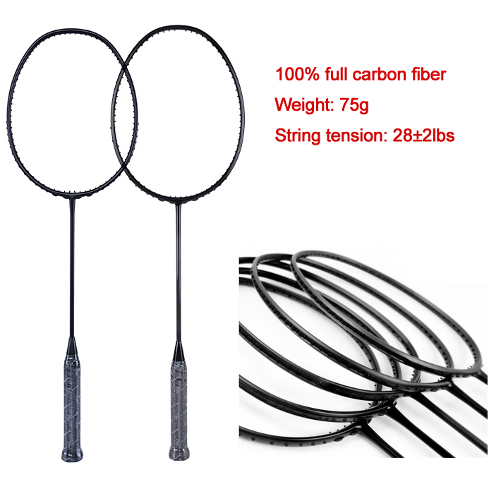 AAA High-grade 3U/4U/5U 77-80g carbon fiber badminton racket for professional player