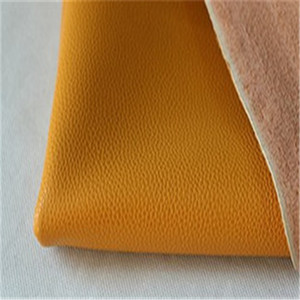 Lichee Pattern Synthetic Leather(leather powder on the back)