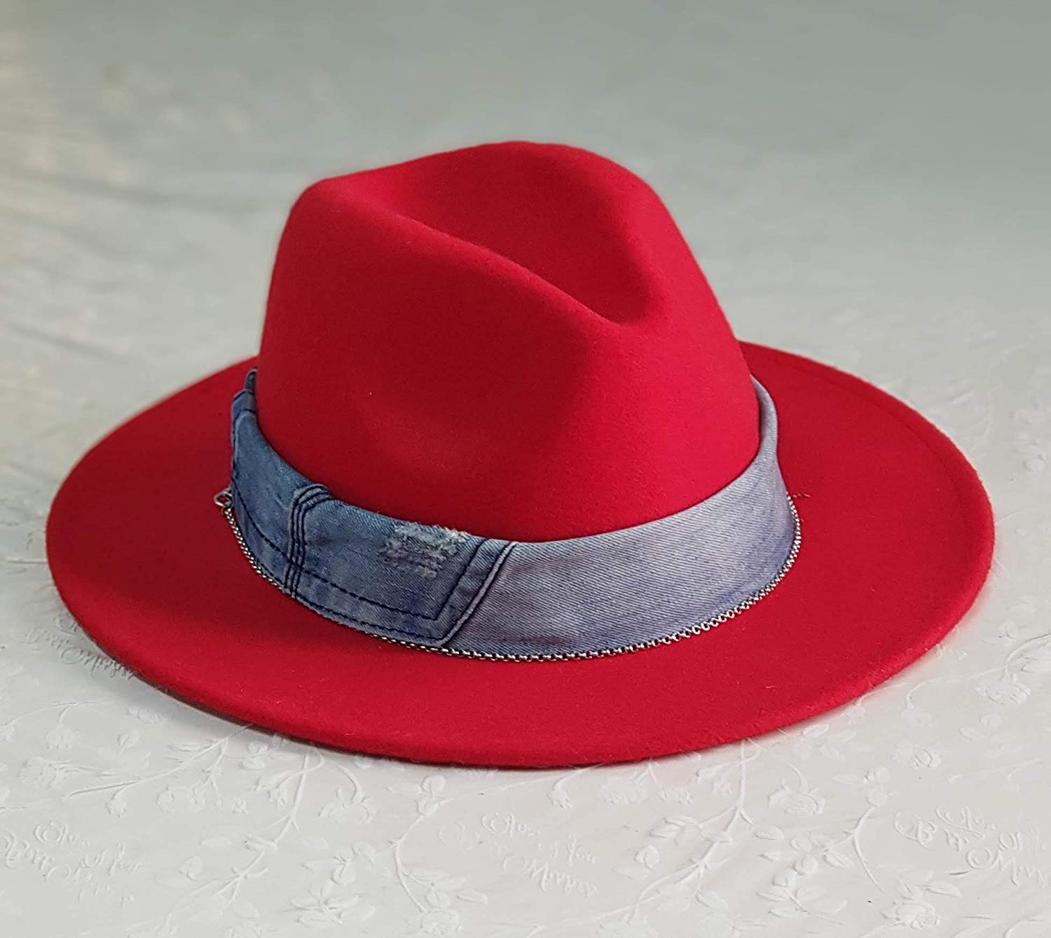 19531ecb4ee88 Get Quotations · Handmade Red fedora hats for women
