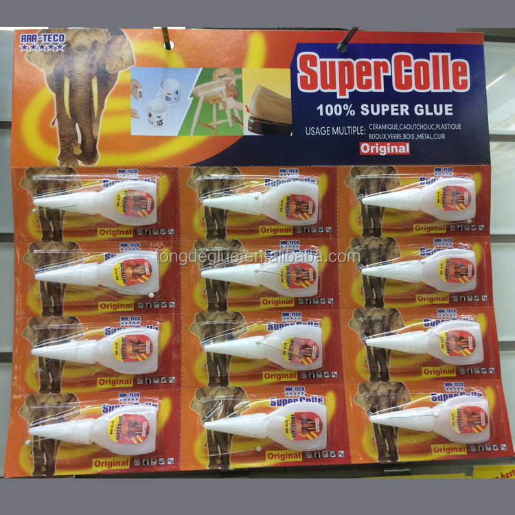 Bottle Super Glue 3g 502 Adhesive Bond 12pcs Blister Packing Card Glue