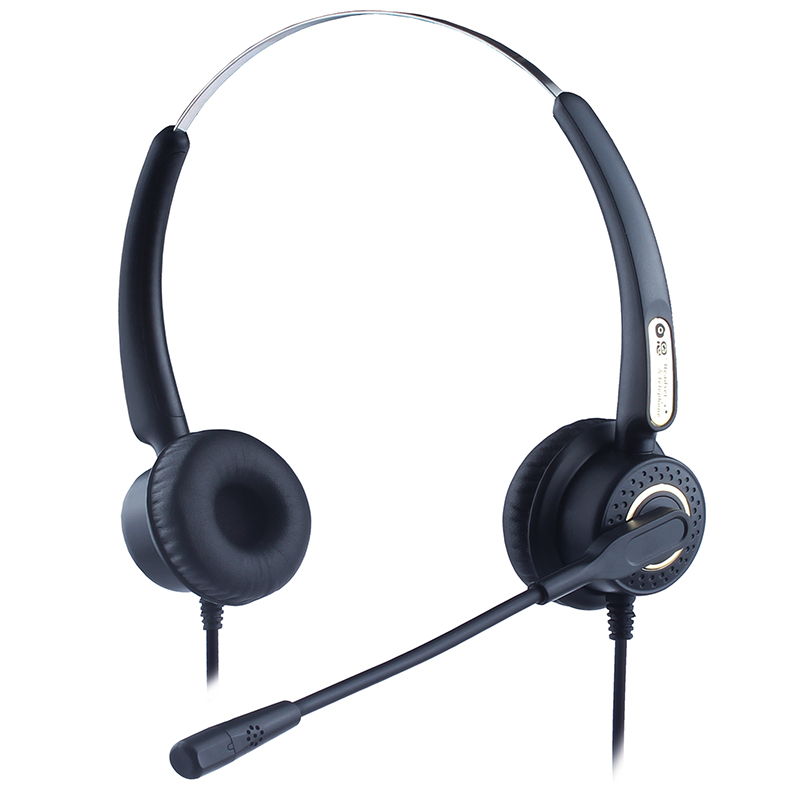 Dh70d Binarual Noise Cancelling Call Center Headset For Telephone ...