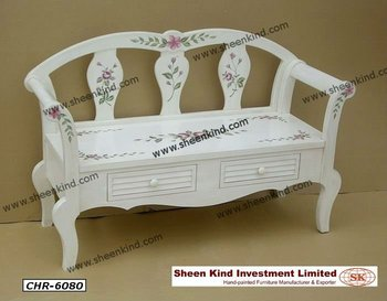 Brilliant Hand Painted French Style Wooden Storage Bench Long Chair Buy French Bench Chair Product On Alibaba Com Ibusinesslaw Wood Chair Design Ideas Ibusinesslaworg