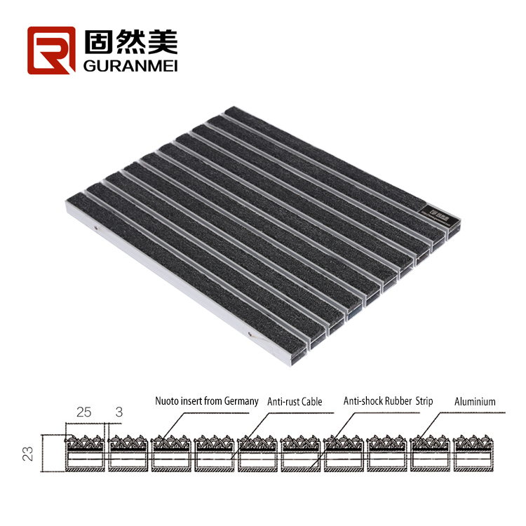 Best quality Aluminum floor mat for airport entrance