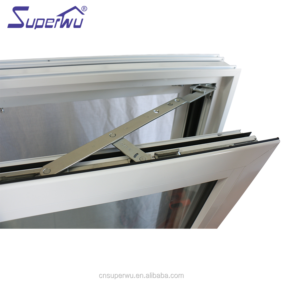 Latest Design Two Way Open Long slim aluminum profile Tilt And Turn Casement Glass Windows