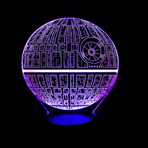 Hot Sale Good in Stock Movie Product 3D USB LED Lamp Astro Death Star Colorful Ball Bulb Lava Atmosphere Night Lights lighting