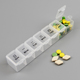 plastic travel clear medicine pill box medication reminder dispenser 7 grids customized color reminder white