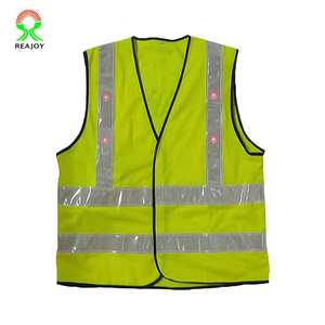 Fluorescent Unisex Flashing LED EL Safety Vest