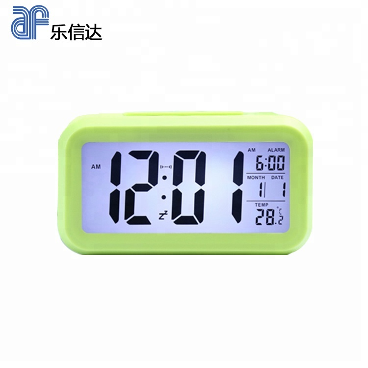 Decorative temperature digital Lcd alarm clock with backlight