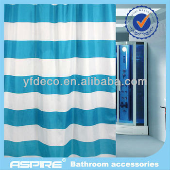 Blue And White Rail Walmart Bathroom Shower Curtains