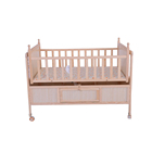 Solid wooden baby bed swinging crib for new born baby