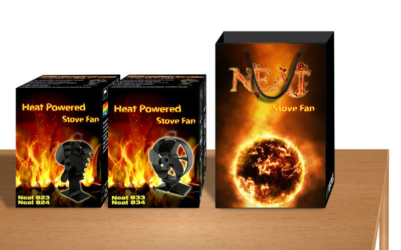 Newmeil Neat 833834 Aluminium Alloy Eco Fireplace Wood Stove Fan