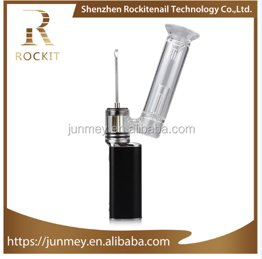 Hot selling Rockit portable enail dabber pen with quartz nail coilless heat fast