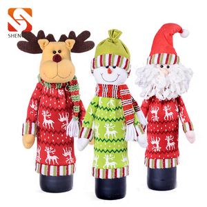 SJ208 hot on sale personalized OEM wine bottle cover christmas ornaments crafts