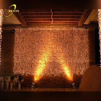 Outdoor Indoor Party Decoration Wedding Backdrop Color Changing Led Fairy String Curtain Lights