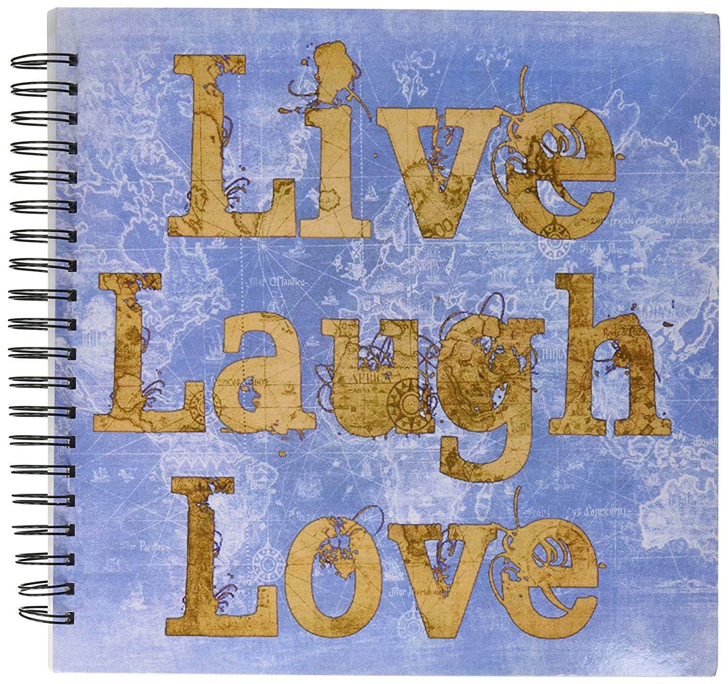 3dRose db_33716_2 Blue Jeans Live, Laugh, Love-Inspirational Quotes-Memory Book, 12 by 12-Inch