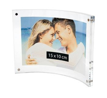 Curved Acrylic Picture Frame Perspex Magnetic Landscape Photo Frame