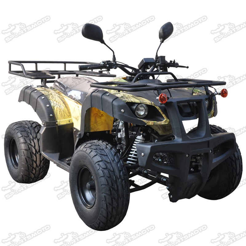 Bull ATV 125cc For Adults Semi Auto Gears F-N-R Four Wheels Quad Bike With CE