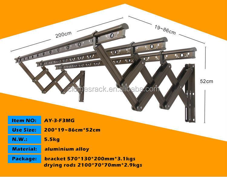 New Laundry Tools Aluminium Alloy Wall Mounted Push Pull