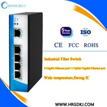 Network & Communication 5 port IP30 Industrial Ethernet Converter