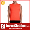 Sleeveless muscle gym t shirts/Polyester spandex dry fit gym t shirts fro men