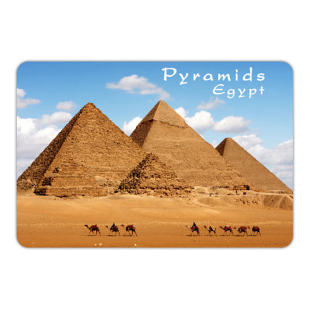 Custom Promotional Tourist Souvenir Egypt Photo Print Fridge Magnet