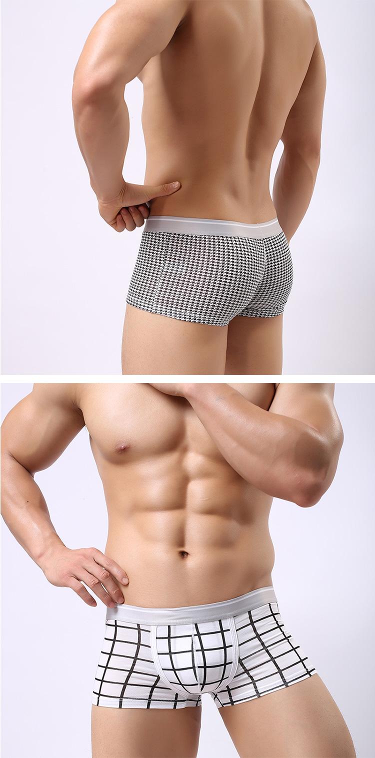Underwear & Sleepwears Mens Microfiber Modal Underwear Print Man Sexy U Convex Penis Pouch Boxers Shorts Panties Undwerpants Push Up Mens Trunks Cueca