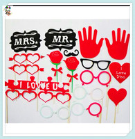 Cheap DIY Adult Love Party Paper Photo Props On Stick HPC-2829