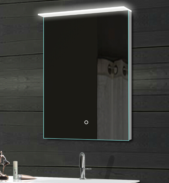 New Design Flat Bathroom Mirror With Led Acrylic Backlit Light And ...