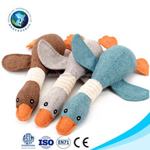 China Wholesale pet chew toy plush stuffed squeaky duck dog toy