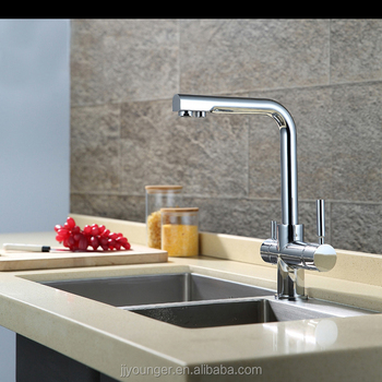 Brass Two Handles Kitchen Sink Water Filter Faucet With Drinking ...