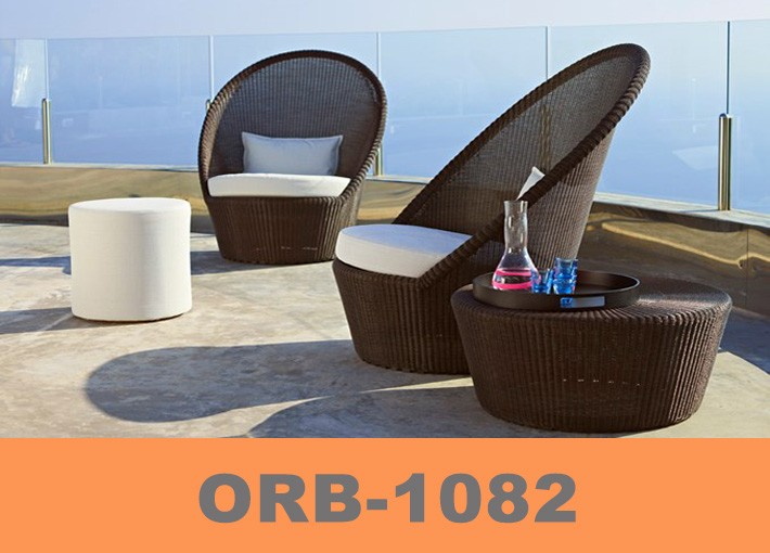 Lounge sofa 2 sitzer outdoor  Villa Swimming Pool Party Rattan Sofa With Dining Set And Chaise ...