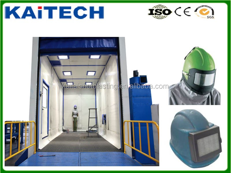 surface cleaning machinery industrial sandblasting room