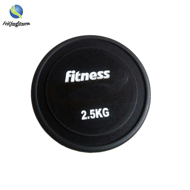Gewichtheffen training ronde rubber coated dumbbell