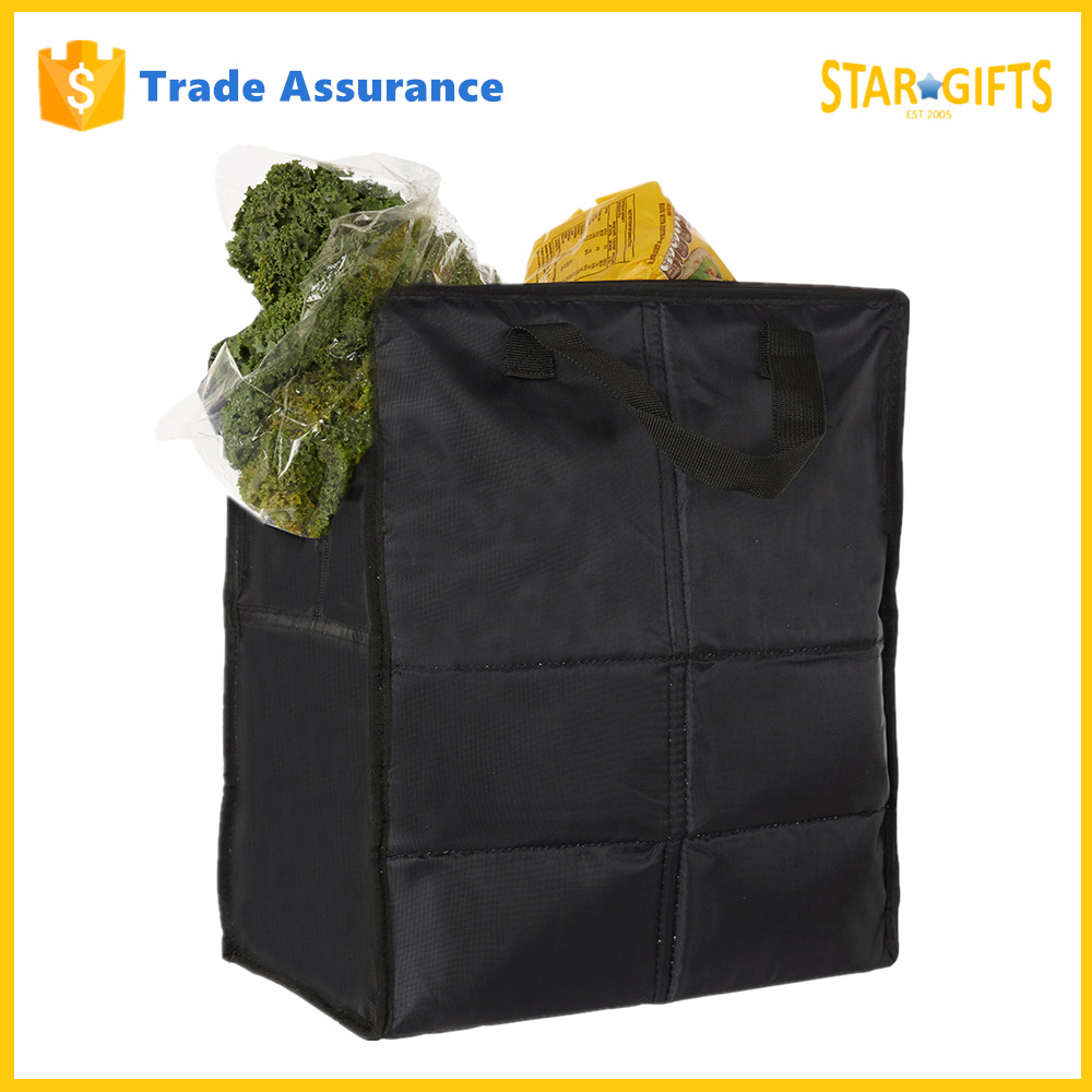 Wholesale Waterproof Fancy Deluxe Insulated Grocery Foldable Fruit Shopping Bag
