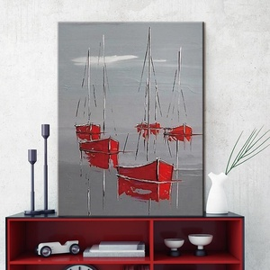 wall art decor home abstract painting ship oil painting on canvas